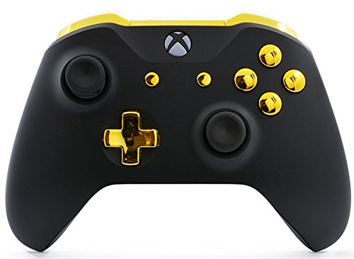 Black/Gold Xbox One S UN-MODDED Custom Controller Unique Design (with 3.5  jack)