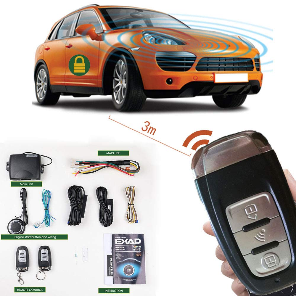 Remote Start Keyless Entry Car Alarm System  Automatically
